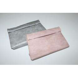 Taske magnetlås grå og rosa