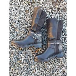 Støvle, halvlang sort med...
