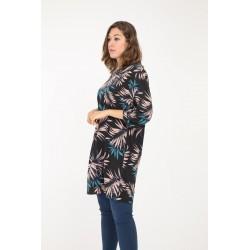 Kjole/tunika blå med print
