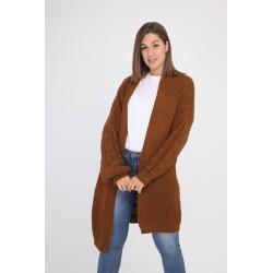 Strik cardigan, brun