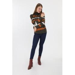 Strik sweater med mønster