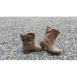 Brun kort støvle